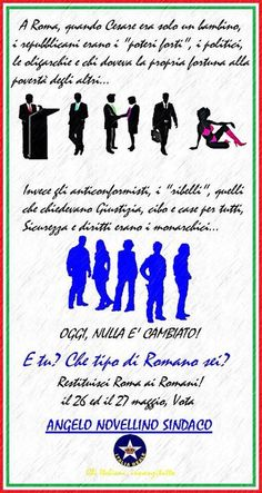 Restituisci Roma ai Romani, vota Italia Reale   ITALIA REALE - Stella e Corona