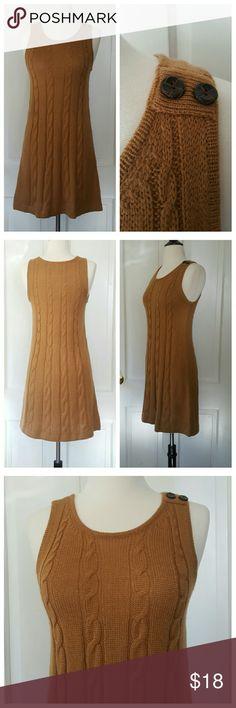Frenchi Sleeveless Sweater Dress Frenchi sleeveless sweater dress, caramel, 2 buttons at shoulder, very soft Frenchi Dresses