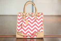 Modern Vintage Boutique - Coral Chevron Tote Bag, $44.00 (http://www.modernvintageboutique.com/coral-chevron-tote-bag.html)