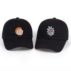 a63ed6ae1918a Rick and Morty Dad Hat. Embroidered CapsDad ...