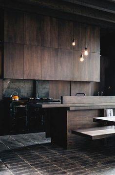 Dark Wood Tiles kitchen