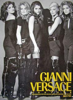 supermodelshrine:  Stephanie, Karen, Helena, Linda and Cindy for Versace