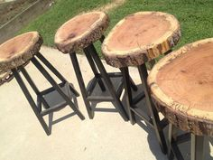 Wood bars stools