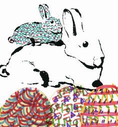 #Osterhase #illustration #365doodlesmitjohanna @byjohannafritz #ostern #osterhase #hase #bunny #easter #blottedline #inkonpaper  #womenwhodraw #musterdesign #oberflächendesign #sennelier #illustratorlife #surfacedesign #oberflächendesign #patterndesign  #surfacespatterns  #abstractpattern #springinberlin #livecolorfully #100dayproject by @elleluna  #100dayproject2017 #100daysofMonotypes #blottedline #inkonpaper
