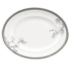 ACHICA   Vera Wang Lace Platinum 38.5cm Oval Platter http://www.achica.com/1573299/ginas