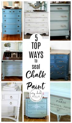 The 5 Top Ways To Seal Chalk Paint (or Milk Paint!) The 5 Top Ways To Seal Chalk Paint (or Milk Paint!) Chris O. 5 TOP Ways […] painted furniture Refurbished Furniture, Repurposed Furniture, Furniture Makeover, Diy Furniture Repurpose, Diy Para A Casa, Diy Casa, Furniture Painting Techniques, Chalk Paint Colors Furniture, Painting With Chalk Paint