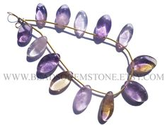 Semiprecious Beads, Ametrine Smooth Marquise (Quality A) / 7.5x15 to 11x19 mm / 18 cm / AMETRI-063 by beadsogemstone on Etsy #ametrinebeads #marquisebeads #gemstonebeads #semipreciousstones #semipreciousbeads #briolettes #jewelrymaking #craftsupplies #beadsofgemstone #stones #beads