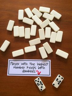 Fun Games 4 Learning: Domino Math Games - DOMINO WAR - would be good to pull all sums of ten, or doubles depending on student need Math Stations, Math Centers, Math Resources, Math Activities, Kindergarten Math Games, Math Games Grade 1, Therapy Activities, Back To School Activities Ks1, Maths Games Ks1
