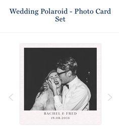 Photo Polaroid invitation save the date