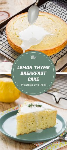 This breakfast cake from Garnish with Lemon is made with Greek yogurt and olive oil to keep it moist and flavored with lemon and thyme, for a perfect springtime brunch.