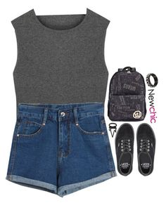 """NC 2.8"" by emilypondng ❤ liked on Polyvore featuring Chicnova Fashion, Vans, Charlotte Russe, women's clothing, women, female, woman, misses, juniors and newchic"
