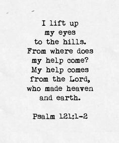 Ps 121:1-2