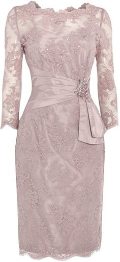 ANOUSHKA G Megan lace dress with embellishment