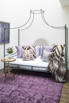 Canopy daybed and purple hues | sfa design