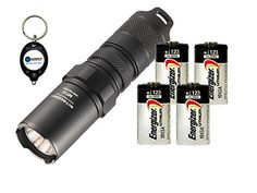 BUNDLE Nitecore MT1C CREE XPG2 R5 LED Flashlight 345 Lumens w 4x Energizer CR123A and Lightjunction Keychain light ** Find out more about the great product at the image link.