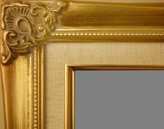 "Beautiful Picture Frame! Perfect For Artwork, Photographs, Canvas Paintings, Oil Paintings, Watercolor Paintings, Acrylic Paintings, Portraits, Wedding Pictures, Diplomas, Family Photographs & More. Classic Ornate Gold Linen Liner 2.125"" Wide Wooden Picture Frame."