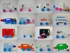 Bastel Ideen Kinder Spielzeuge Kanister Autos
