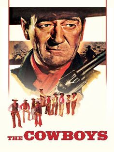 John Wayne Movie / The Cowboys (1972) When his cattle drivers abandon him for the gold fields, rancher Wil Andersen (Wayne) is forced to take on a collection of young boys as his drivers in order to get his herd to market in time to avoid financial disaster. The boys learn to do a man's job under Andersen's tutelage, however, neither Andersen nor the boys know that a gang of cattle thieves is stalking them.