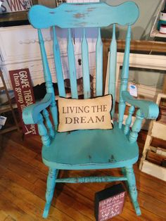 Turquoise rocking chair