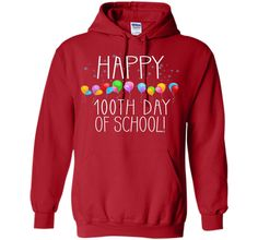 Happy 100th Day of School Party Balloons Teacher T-Shirt