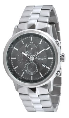 IKC9225 | 2,498 kr UPC: 020571100138 STAINLESS STEEL/ROUND CASE , GUNMETAL DIAL WITH APPLIED MARKERS AND CD CUT TEXTURE , MINERAL GLASS CRYSTAL , THREE EYE CRONOGRAPH MOVEMENT COUNTS MINUTES /SECONDS /24HOURS,  STAINLESS STEEL BRACELET, TWO BUTTON FOLD-OVER CLASP. 46MM CASE 5 ATM Hitta butiker på www.swgroup.se