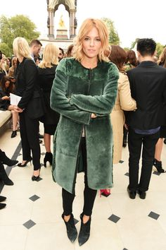 We LOVE these celebs at London Fashion Week. See who pulled off chic on the streets: Sienna Miller