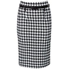 Urban Bliss Black Houndstooth Pencil Skirt ($32) ❤ liked on Polyvore