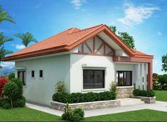 Acogedor plano de casa de 61 m2 y 2 grandes dormitorios