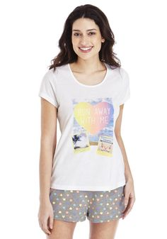 Clothing at Tesco | F&F Run Away with Me Shorts Pyjamas > nightwear > Nightwear & Slippers > Women