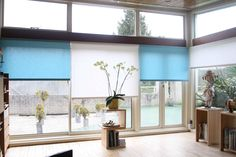 Another lovely example of Silent Gliss Colorama 2 blinds in action - here in one of our most stunning installations to date Sheer Roller Blinds, Action, Windows, Furniture, Group Action, Home Furnishings, Ramen, Window, Arredamento