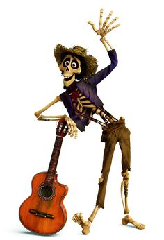 Hector with his guitar from Coco