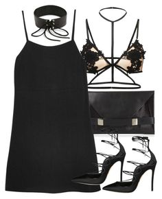 """""""Untitled #11298"""" by minimalmanhattan ❤ liked on Polyvore featuring Unique, Reformation, Rendor & Steel and Dsquared2"""