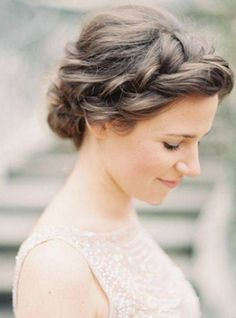 Braided Simple Updos For Medium Hair