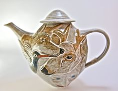 Animal Dream Teapot, Coyote, Hummingbird, Deer - Handmade wheel thrown pottery teapot - Ceramic Teapot - Animal teapot tea pot - Functional Pottery
