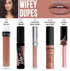 Huda beauty liquid lipstick dupes in the shade Wifey // Kayy Dubb ♡