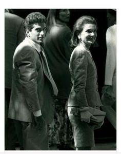 Jacquelyn Kennedy Onassis and son, John Kennedy Jr.