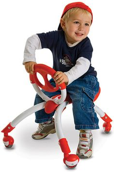 $64.99 Y Pewi Red, for children agers 12-36 months with maximum load of 44 lbs! Comes in Red, Pink, and Blue.