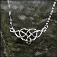 An open knotwork Celtic heart pendant in Sterling Silver.