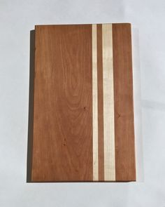 Cherry and Maple Cutting Board Large Wooden by GibsonBoards