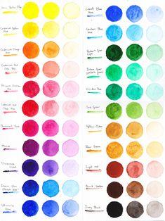 Winsor and Newton Cotman Coloursheet by Eyliana