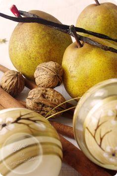 Confiture de Noël : Poire, vanille, canelle et noix. Un délice !