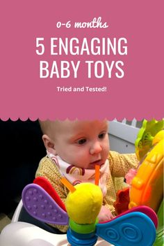 5 Engaging Baby Toys (0-6 months) Tried and tested! Baby Sensory Toys, Baby Toys, Infant Activities, Learning Activities, 5 Month Old Baby, Autism Teaching, V Tech, 6 Month Olds
