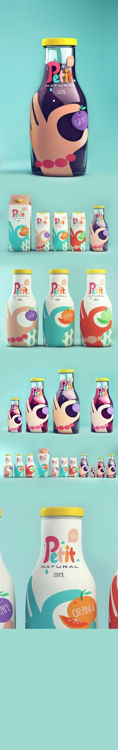 here you go Beth Wood. Petit - Natural Juice #packaging #branding PD