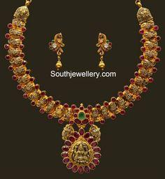 lakshmi motifs necklace