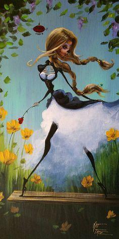 Day Of the Dead Acrylic Original Painting Steampunk by KatTatz