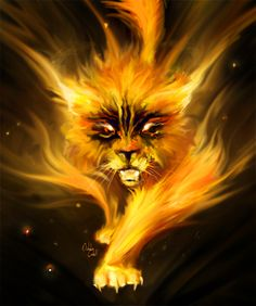 Ovinnik (Slavic) - The evil, fiery version of the Domovoi, these can take fiery cat forms and turn every household into a mess for pleasure and despair. Weird Creatures, Fantasy Creatures, Mythical Creatures, Scary Legends, Eslava, World Mythology, Scary Cat, Animal Medicine, Anime Galaxy