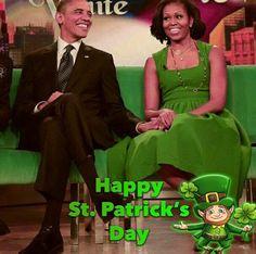 #44thPresident #BarackObama #FirstLady #MichelleObama #HappyStPatrickDay ☘️☘️