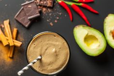 A chocolate smoothie with a little kick! Spiced naturally, rounded out with vanilla and irresistibly smooth, this is one chocolate smoothie recipe you won't soon forget.