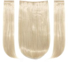 Shein Light Blonde Clip In Straight Hair Extension 3pcs