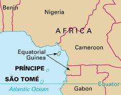 Map of Sao Tome Principe West Africa Pinterest Africa